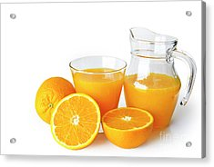 Orange Juice Acrylic Print by Carlos Caetano