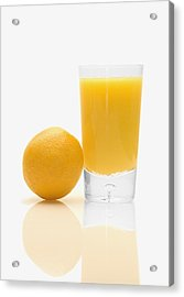 Orange Juice Acrylic Print by Darren Greenwood