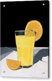 Orange Juice Acrylic Print by Karyn Robinson