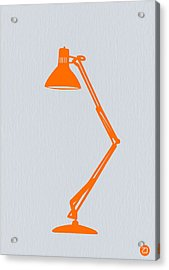 Orange Lamp Acrylic Print by Naxart Studio
