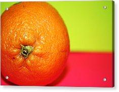 Orange Acrylic Print by Linda Sannuti
