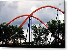 Orange Mobius Acrylic Print by Robert Knight