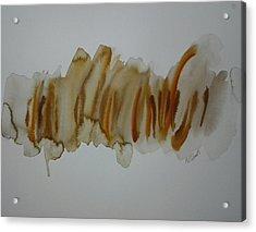 Orange Non-objective Acrylic Print by B L Qualls