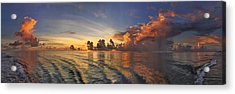 Orange Panorama Acrylic Print