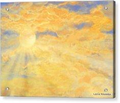 Orange Peak Acrylic Print by Leslie Rhoades