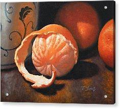 Orange Peeled Acrylic Print by Timothy Jones