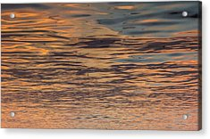 Orange Pink Gold Acrylic Print