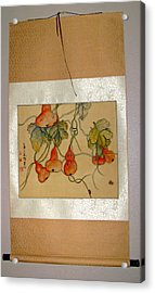 Acrylic Print featuring the painting Orange Prevails by Debbi Saccomanno Chan