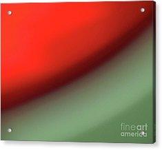 Orange Red Green Acrylic Print by CML Brown