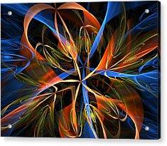 Orange Ribbons Acrylic Print