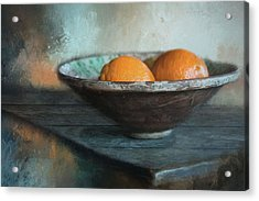 Acrylic Print featuring the photograph Orange by Robin-Lee Vieira