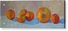 Orange Roll Acrylic Print by Donna Shortt