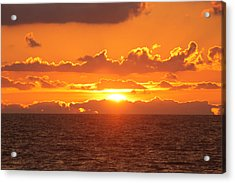 Orange Skies At Dawn Acrylic Print
