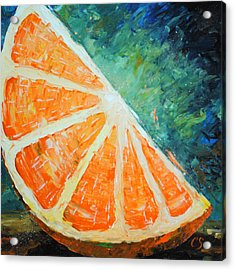 Orange Slice Acrylic Print