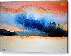 Orange Solitude Acrylic Print by Neva Rossi