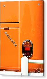 Orange Splitty Acrylic Print