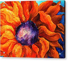 Orange Sunflower Acrylic Print