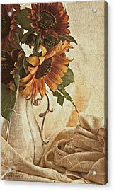 Orange Sunflowers - Found In The Attic Acrylic Print