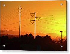 Orange Sunrise Acrylic Print