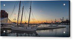 Orange Sunrise Acrylic Print