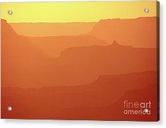 Orange Sunset At Grand Canyon Acrylic Print by RicardMN Photography