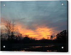 Orange Sunset Acrylic Print by Bill Perry