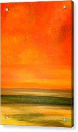 Orange Sunset Acrylic Print by Marcia Crispino