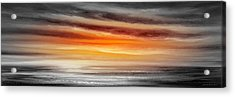 Orange Sunset - Panoramic Acrylic Print