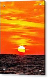 Orange Sunset Acrylic Print by Tracey Harrington-Simpson