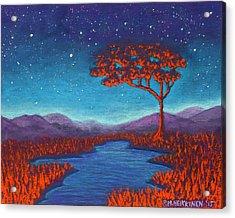 Orange Tree 01 Acrylic Print