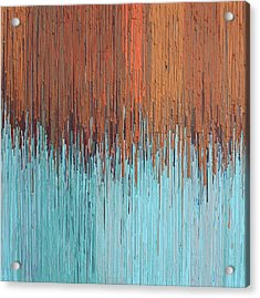 Orange Turquoise  Acrylic Print by Kate Tesch
