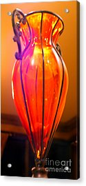 Orange Vase Acrylic Print by Heather S Huston