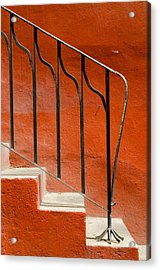Orange Wall And Steps. Acrylic Print