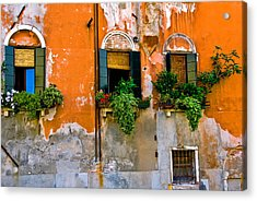 Orange Wall Acrylic Print