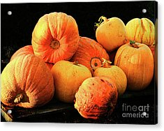 Orange Yellow Pumpkins Acrylic Print