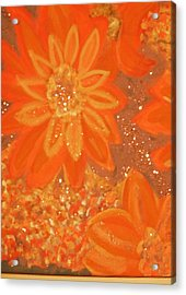 Orange You Glad You Like Orange Acrylic Print by Anne-Elizabeth Whiteway