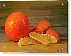 Oranges 01 Acrylic Print by Wally Hampton