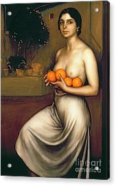 Oranges And Lemons Acrylic Print by Julio Romero de Torres