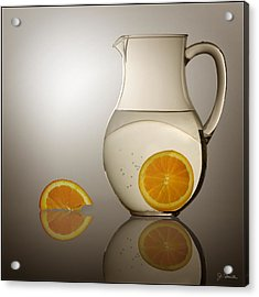 Acrylic Print featuring the photograph Oranges And Water Pitcher by Joe Bonita