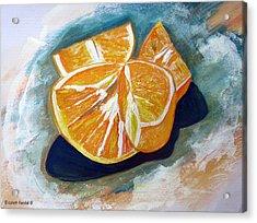 Oranges Acrylic Print by Elizabeth Kendall