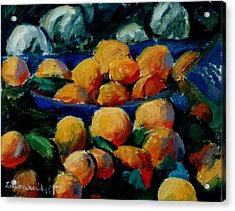 Oranges Acrylic Print by George Siaba