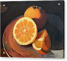 Oranges In Late Afternoon Sunlight Acrylic Print