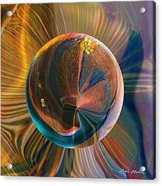 Acrylic Print featuring the painting Orbing Good Vibrations by Robin Moline