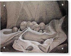 Orbs Acrylic Print by Rebecca Tacosa Gray