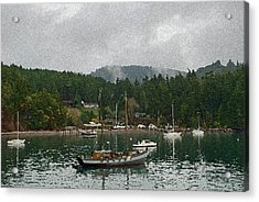 Orcas Island Digital Enhancement Acrylic Print