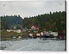 Orcas Island Dock Acrylic Print by Carol  Eliassen