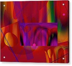 Orchestration 9 Acrylic Print by Lynda Lehmann