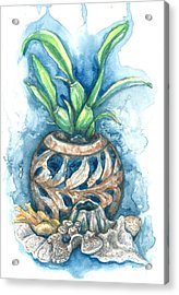 Orchid And Barnacle Acrylic Print