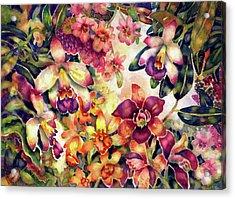 Orchid Garden II Acrylic Print