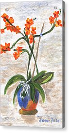 Acrylic Print featuring the painting Orchid by Jamie Frier